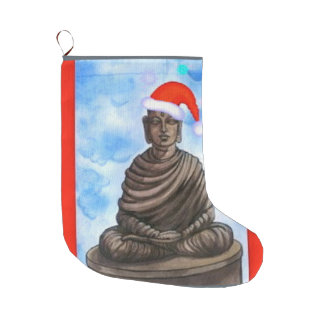 Buddhism - Buddha - Merry Christmas Large Christmas Stocking