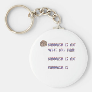 Buddhism is Not What You Think Basic Round Button Key Ring
