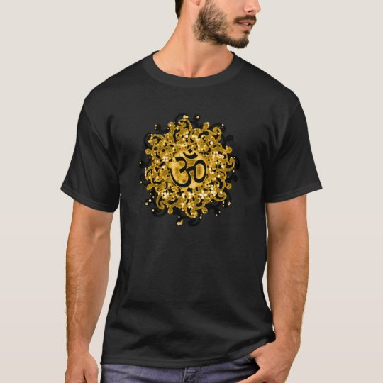 Buddhism Om symbol (black/gold) t-shirt