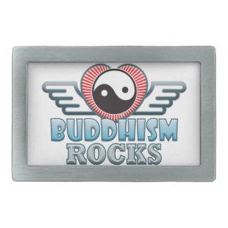 Buddhism Rocks Rectangular Belt Buckle