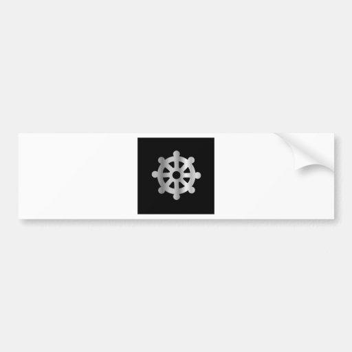 buddhism wheel of dharma.jpg bumper sticker