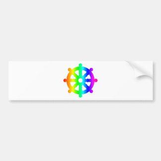Buddhism (Wheel Of Dharma) Symbol Bumper Sticker