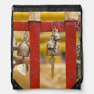 Buddhist Bells at Doi Suthep Temple Drawstring Bag
