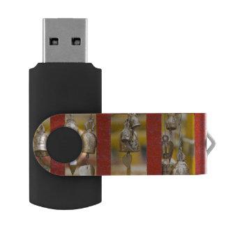 Buddhist Bells at Doi Suthep Temple Swivel USB 2.0 Flash Drive