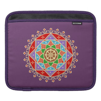 Buddhist Dharma Wheel Mandala iPad Sleeve