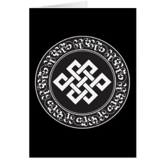 Buddhist Endless Knot Card