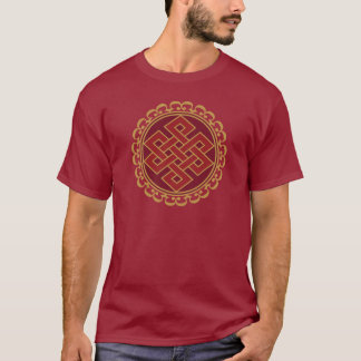 Buddhist Endless or Eternal Knot Pattern T-Shirt