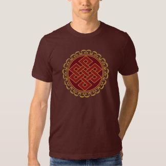 Buddhist Endless or Eternal Knot Pattern Tshirt