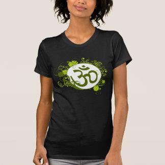 Buddhist Green Floral Om Tshirts