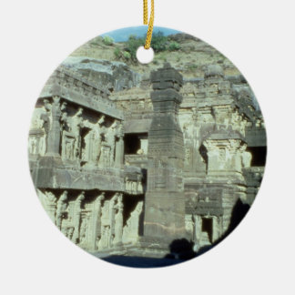 Buddhist, Jainist and Hindu caves at Ellora, 600-1 Christmas Ornament