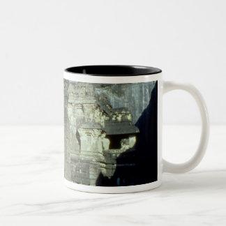 Buddhist, Jainist and Hindu caves at Ellora, 600-1 Two-Tone Coffee Mug