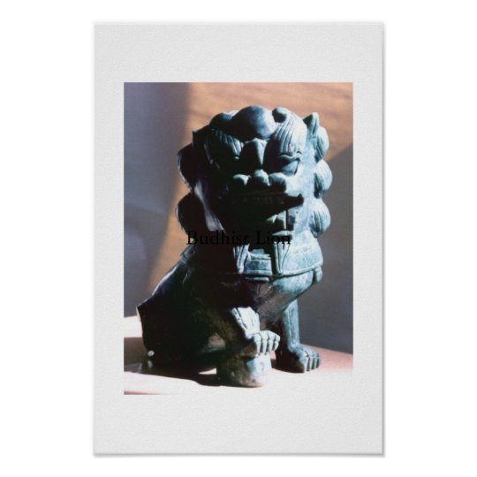 Buddhist Lion Poster