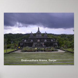Buddhist Monastery Bali poster
