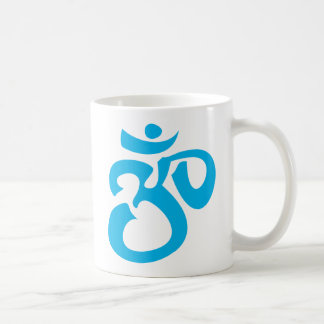 Buddhist & New Age Calligraphic Om Symbol Basic White Mug