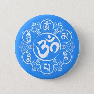 Buddhist Om Mani Padme Hum Mantra 6 Cm Round Badge