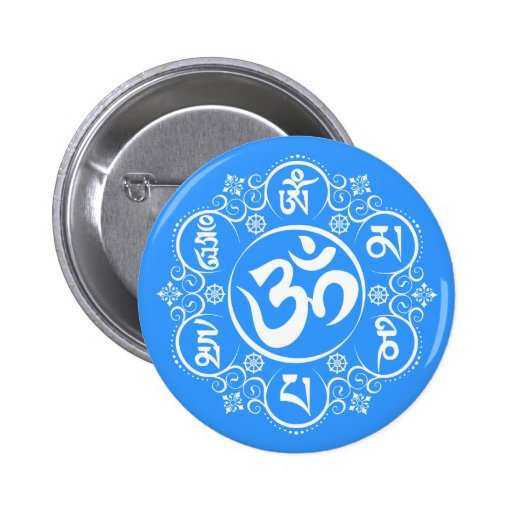 Buddhist Om Mani Padme Hum Mantra Buttons