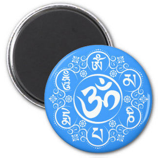 Buddhist Om Mani Padme Hum Mantra 6 Cm Round Magnet