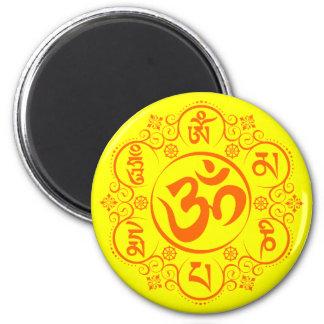 Buddhist Om Mani Padme Hum Mantra Refrigerator Magnet