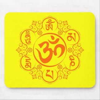Buddhist Om Mani Padme Hum Mantra Mousepads