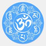 Buddhist Om Mani Padme Hum Mantra Round Sticker