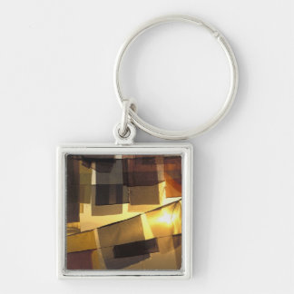 Buddhist prayer flags in the sunset, key ring