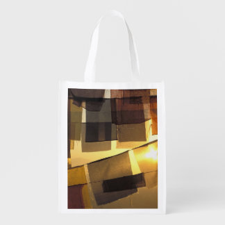 Buddhist prayer flags in the sunset, reusable grocery bag