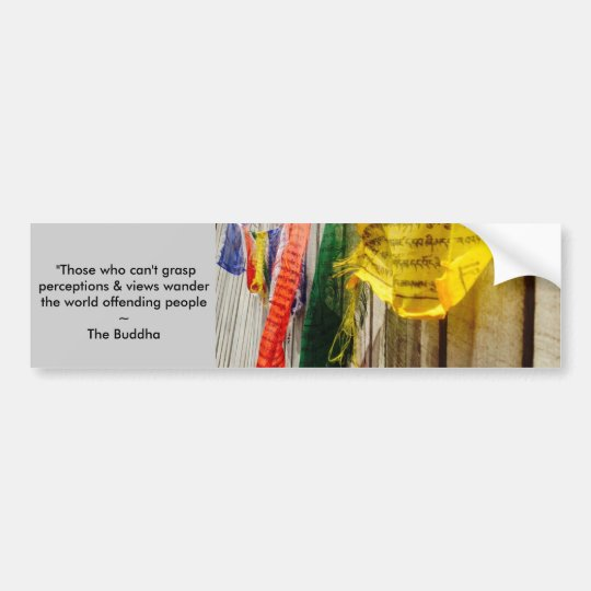 Buddhist Prayer Flags w/long Quote by the Buddha Bumper Sticker