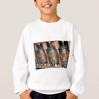 Buddhist prayer wheels sweatshirt