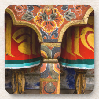 Buddhist praying role, bhutan coasters