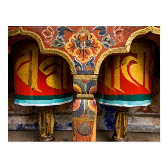 Buddhist praying role, bhutan postcard