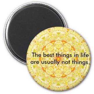 buddhist quote 6 cm round magnet