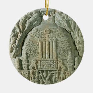 Buddhist stupa, Nagarjunakonda (limestone) Christmas Ornament