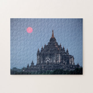 Buddhist Temple At Sunset Jigsaw Puzzle