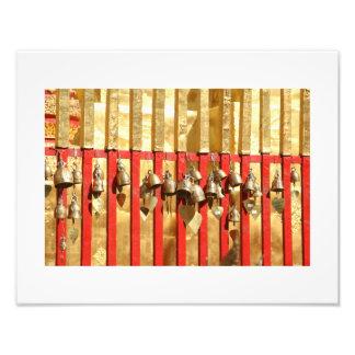 Buddhist Temple Bells, Thailand Art Photograph