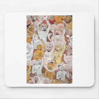 Buddhist temple deities mural painting mouse pads