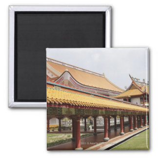 Buddhist temple grounds square magnet