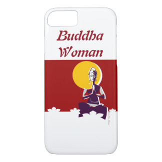 Buddhist woman, yoga posture iPhone 8/7 case