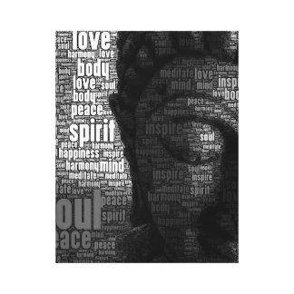 Buddhist Words of Wisdom Canvas Print