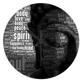 Buddhist Words of Wisdom Large Clock