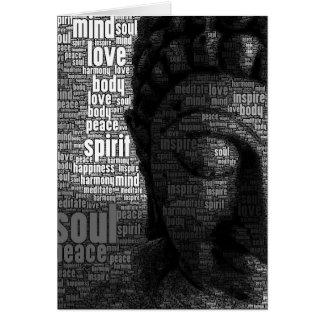 Buddhist Words of Wisdom Note Card