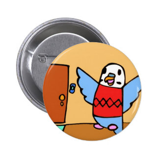 Buddie Goes Home Pinback Button