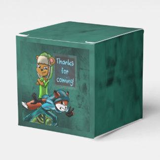 """Buddies Birthday Favor Box Classic 2x2"" Wedding Favour Box"