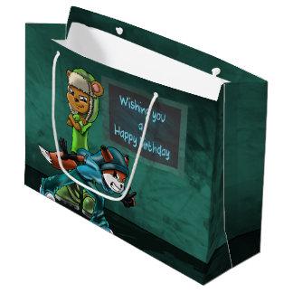 """Buddies Birthday Gift Bag - Large, Glossy"" Large Gift Bag"