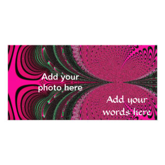 Budding Fuchsia Flower Fractal Personalised Photo Card