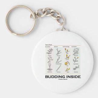 Budding Inside (Types Of Buds Biology / Botany) Basic Round Button Key Ring