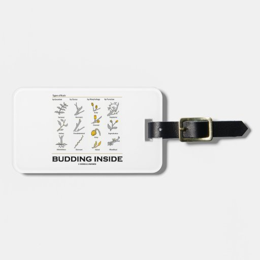 Budding Inside (Types Of Buds Biology Botany) Travel Bag Tag