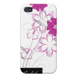 Budding Romance in Fuchsia Floral iPhone4 iPhone 4/4S Cover