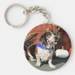 Buddy Beagle Basset Hybrid Photo-01 Basic Round Button Key Ring