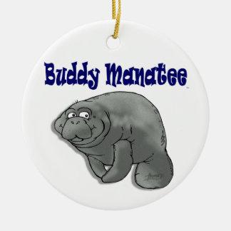 Buddy Manatee Christmas Ornament