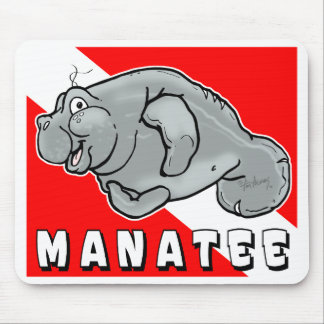 Buddy Manatee Diver Mousepad